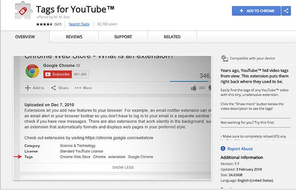 YouTube视频标签插件