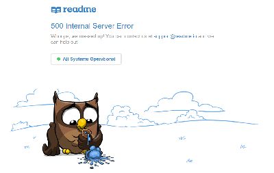 自述500内部服务器错误