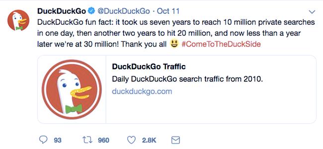 DuckDuckGo的推文