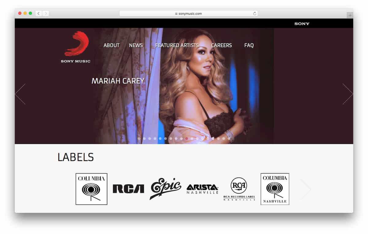 索尼音乐官方网站