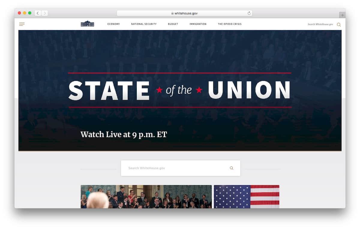 白宫官方网站主页